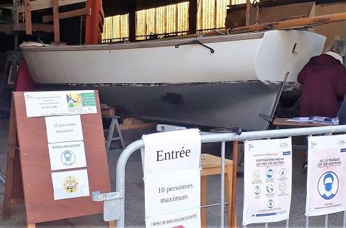 Goélette en cours de restauration - FRCPM