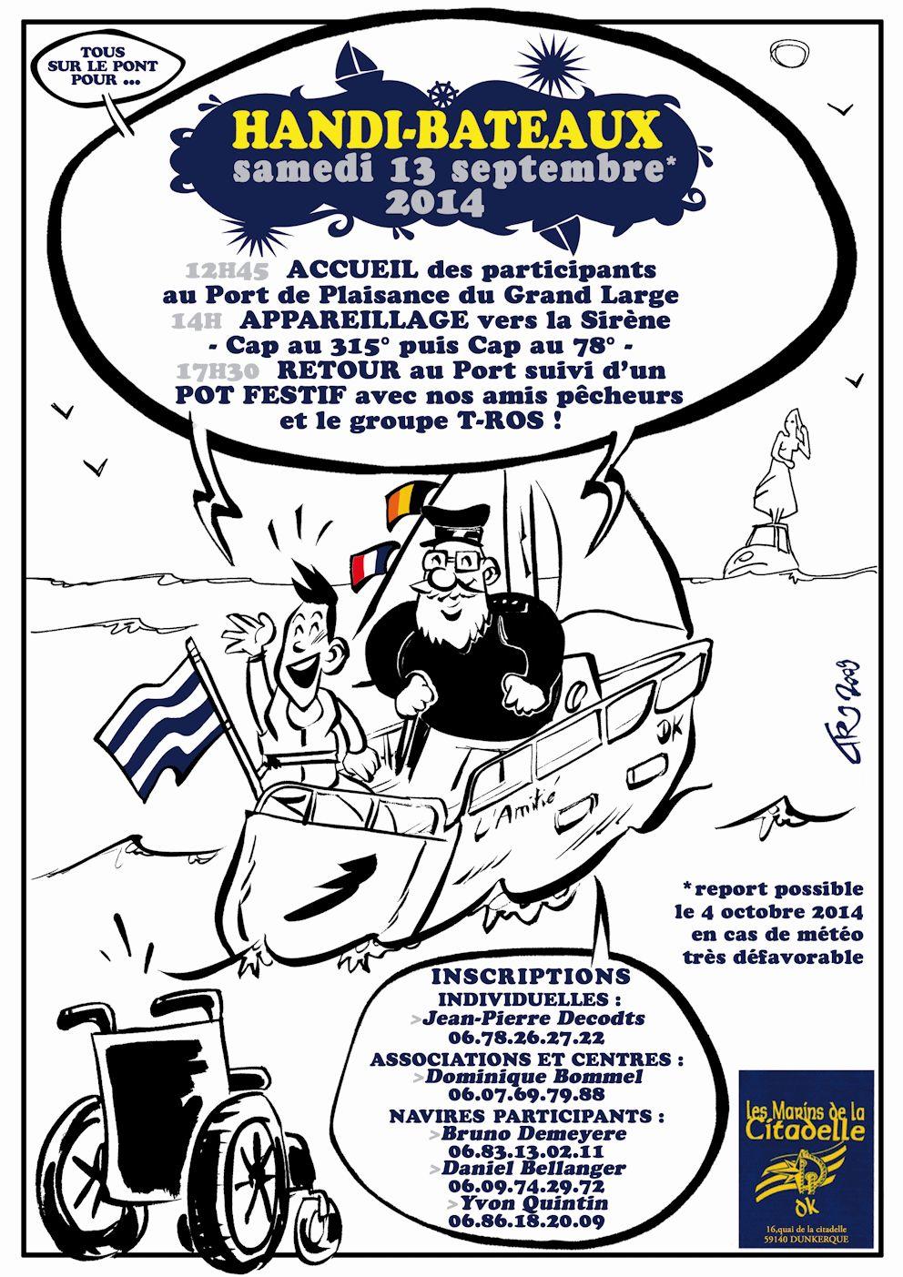 Affiche Handi-bateau 2014