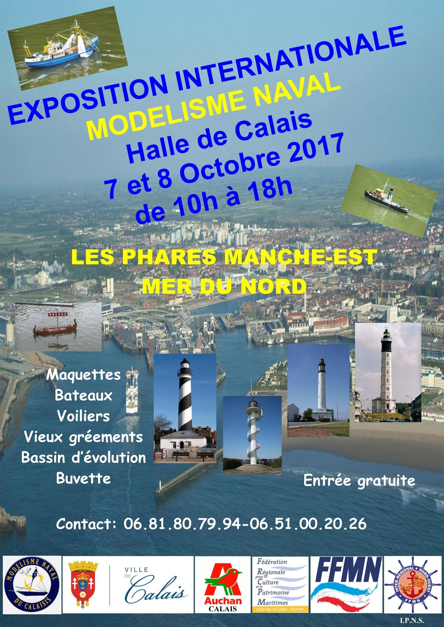 Affiche exposition modélisme naval Calais