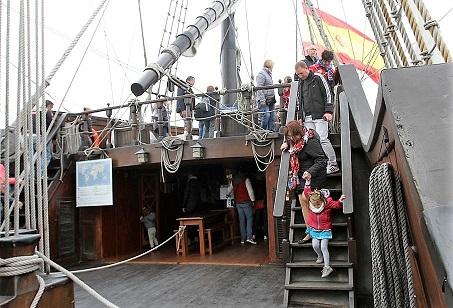 Escale à Calais - visites d'El Galeon
