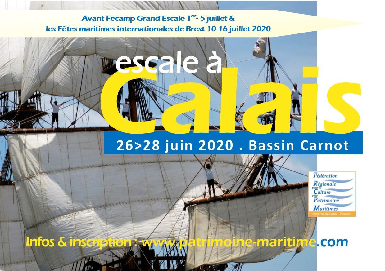 Visuel provisoire Escale à Calais 2020 - FRCPM
