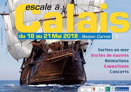 Visuel Escale à Calais 2018 - B DEMAN