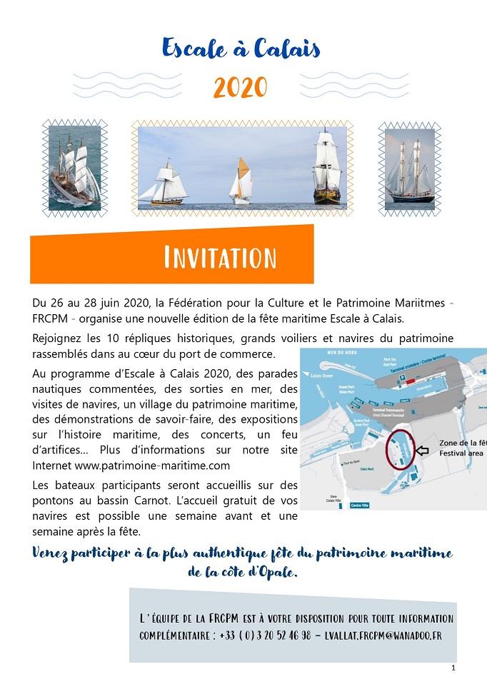 Invitation bateaux EaCl20 - FRCPM