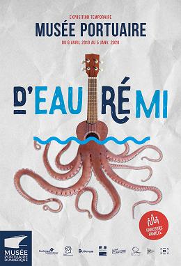 Affiche D'Eau Ré Mi - Musée portuaire