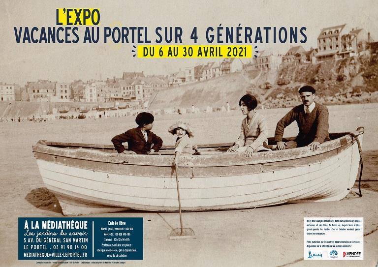 Affiche exposition Vacances au Portel
