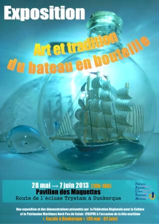 affiche  -  expo bateau en b - dunkerque2013 bd