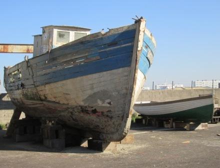 Jean XXIII au chantier naval après son avarie