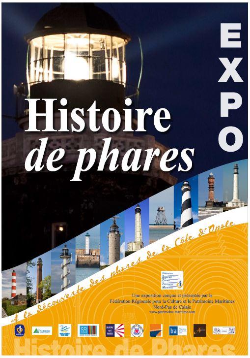 Affiche expo Histoire de phares Sangatte