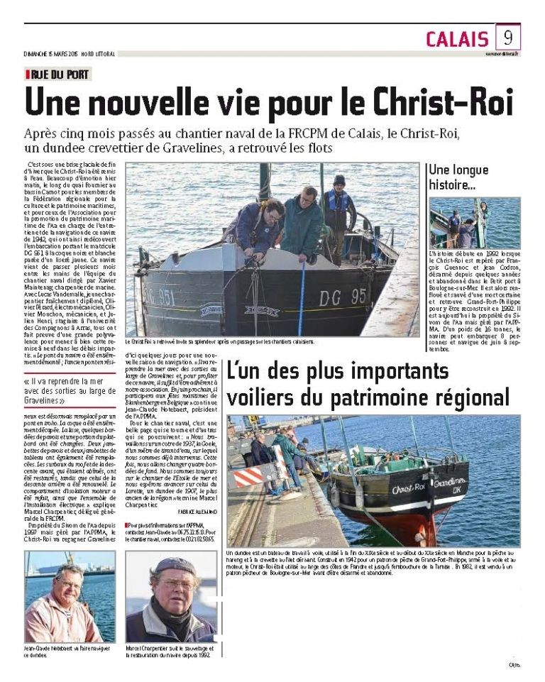 Article Nord Littoral du 15 mars 2015